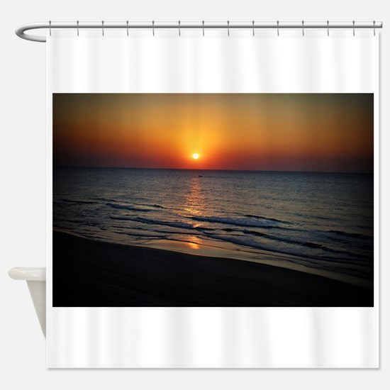 Bat Yam Beach Shower Curtain