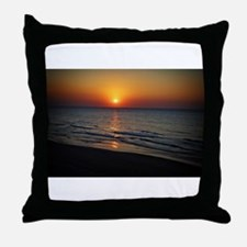 Bat Yam Beach Throw Pillow