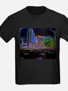 An Electrifying Neon Lit Chicago T-Shirt