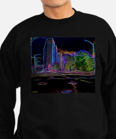An Electrifying Neon Lit Chicago Sweatshirt