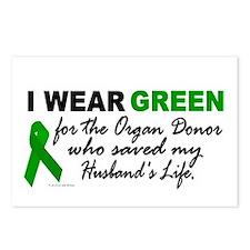 I Wear Green 2 (Saved My Husband's Life) Postcards