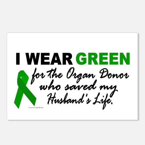 I Wear Green 2 (Saved My Husband's Life) Postcards
