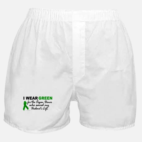 I Wear Green 2 (Saved My Husband's Life) Boxer Sho