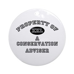 Property of a Conservation Adviser Ornament (Round