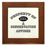 Property of a Conservation Adviser Framed Tile