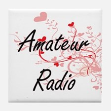 Amateur Radio Artistic Design with He Tile Coaster