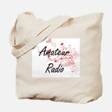 Amateur Radio Artistic Design with Hearts Tote Bag