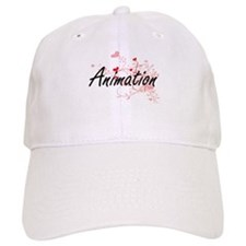 Animation Artistic Design with Hearts Baseball Baseball Cap