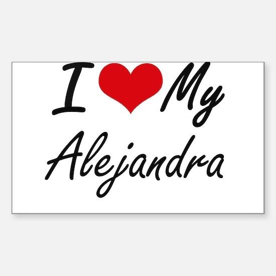 I love my Alejandra Decal
