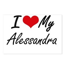 I love my Alessandra Postcards (Package of 8)
