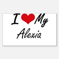 I love my Alexia Decal