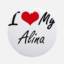 I love my Alina Round Ornament
