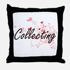 Collecting Artistic Design with Heart Throw Pillow