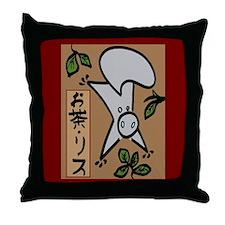 Tea Squirrel Throw Pillow