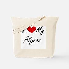 Funny Alyson Tote Bag