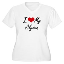 I love my Alyson Plus Size T-Shirt