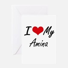 I love my Amina Greeting Cards