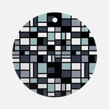 SHADES OF BLUE Round Ornament