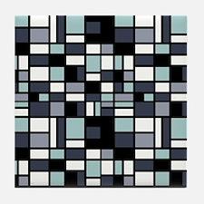 SHADES OF BLUE Tile Coaster