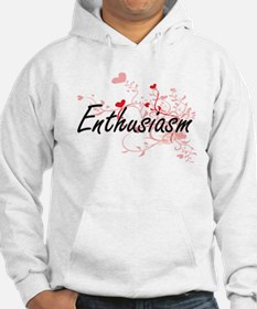 Enthusiasm Artistic Design with Hoodie