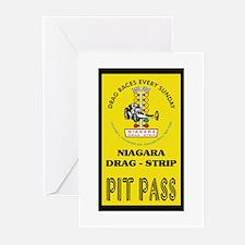 Niagara Drag Strip Pit Pass Greeting Cards