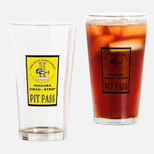 Niagara Drag Strip Pit Pass Drinking Glass