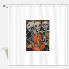 Three Musicians Day Of The Dead Shower Curtain