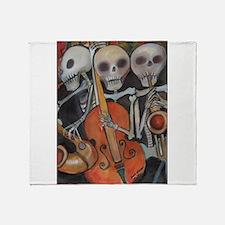 Halloween Three Musicians Throw Blanket