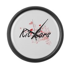 Kit Cars Artistic Design with Hea Large Wall Clock