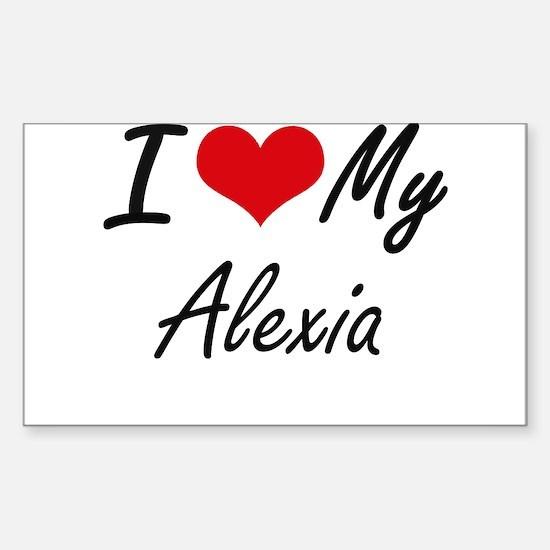 I love my Alexia Decal