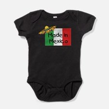 Cute Mexico flag Baby Bodysuit