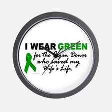 I Wear Green 2 (Saved My Wife's Life) Wall Clock