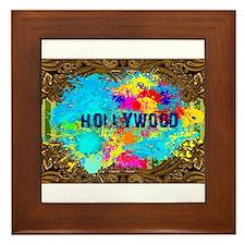 hollywood splash Framed Tile