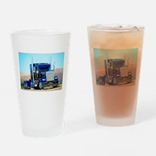 Cute Semi truck Drinking Glass