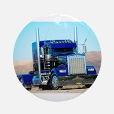 Cute Trucker Round Ornament
