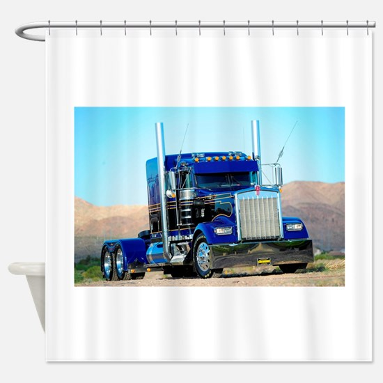 semi truck with bathroom. Cute Semi truck Shower Curtain Truck Bathroom Accessories  Decor CafePress