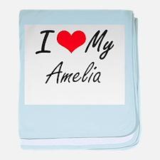 I love my Amelia baby blanket