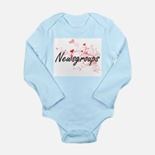 Newsgroups Artistic Design with Hearts Body Suit