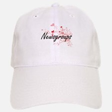 Newsgroups Artistic Design with Hearts Baseball Baseball Cap
