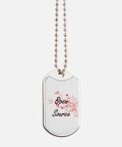 Open Source Artistic Design with Hearts Dog Tags