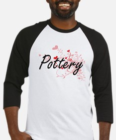 Pottery Artistic Design with Heart Baseball Jersey