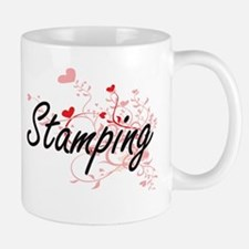 Stamping Artistic Design with Hearts Mugs