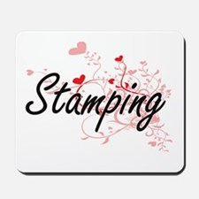 Stamping Artistic Design with Hearts Mousepad