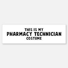Pharmacy Technician costume Bumper Bumper Bumper Sticker