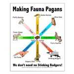 Pagan Fauna Small Poster