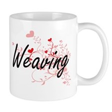 Weaving Artistic Design with Hearts Mugs