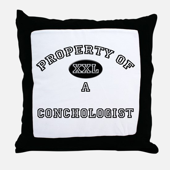 Property of a Conchologist Throw Pillow