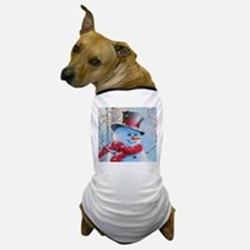 Snowman in the Woods Dog T-Shirt