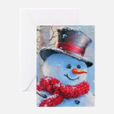 Snowman in the Woods Greeting Cards