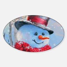 Snowman in the Woods Decal